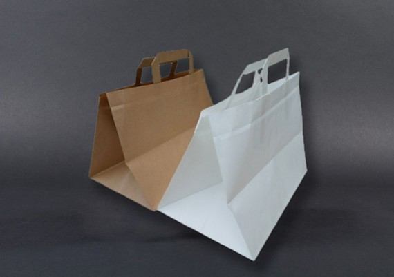 paperbag art le blog sacs papier kraft type cabas anses en papier plat. Black Bedroom Furniture Sets. Home Design Ideas